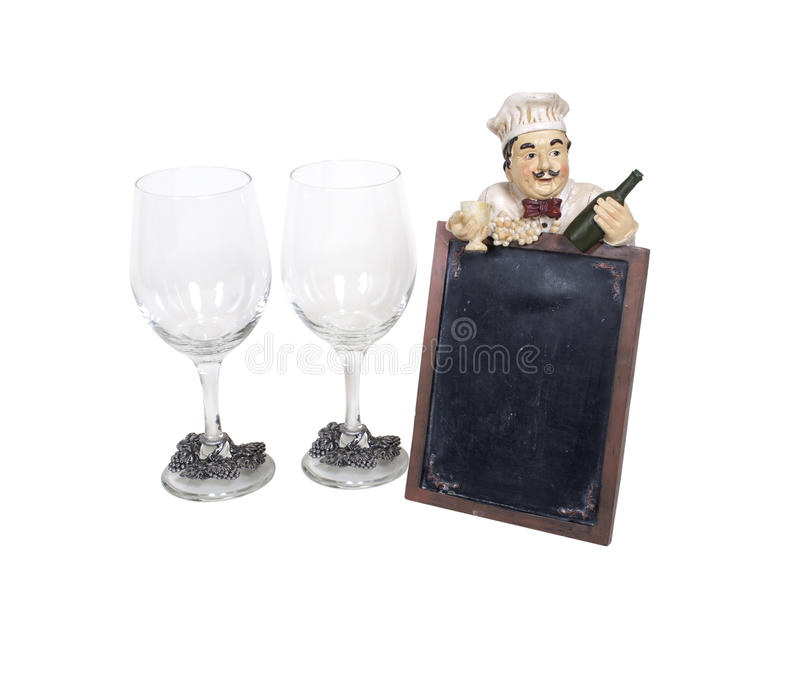 Download Wine Glasses With Menu Sign Stock Image - Image: 14614091