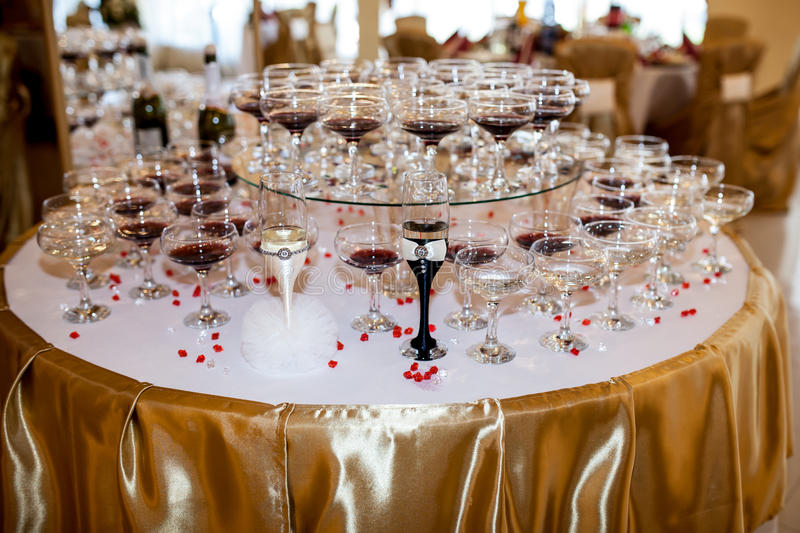 Wine glasses. Picture of glasses of wine stock photo