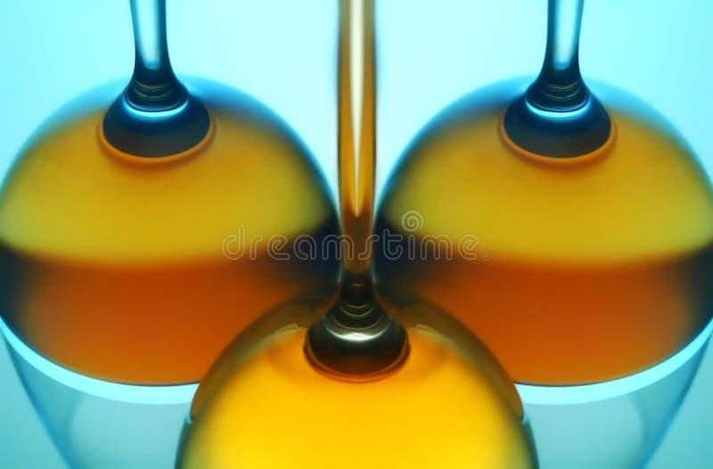 Wine glasses reflection stock photography