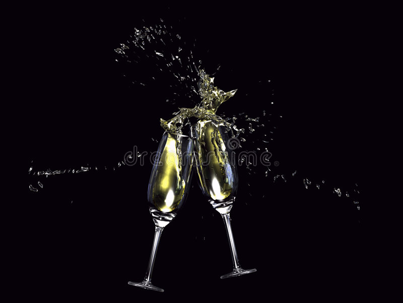 Wine glasses toasting royalty free illustration