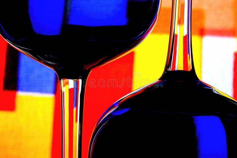 Wine Glassware Abstract Design stock photos