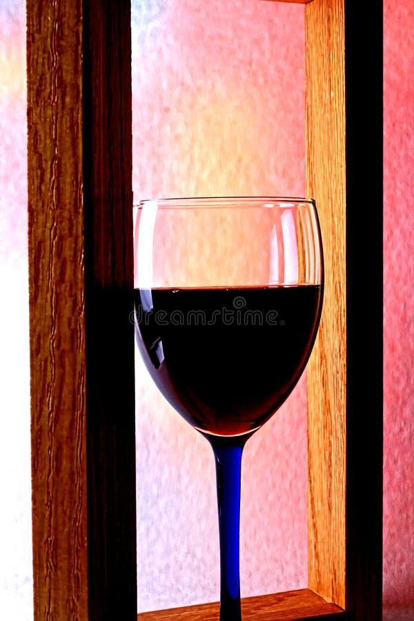 Wine Glassware Background Design stock photography
