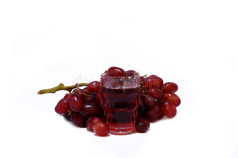 Wine and grapes 2 stock images
