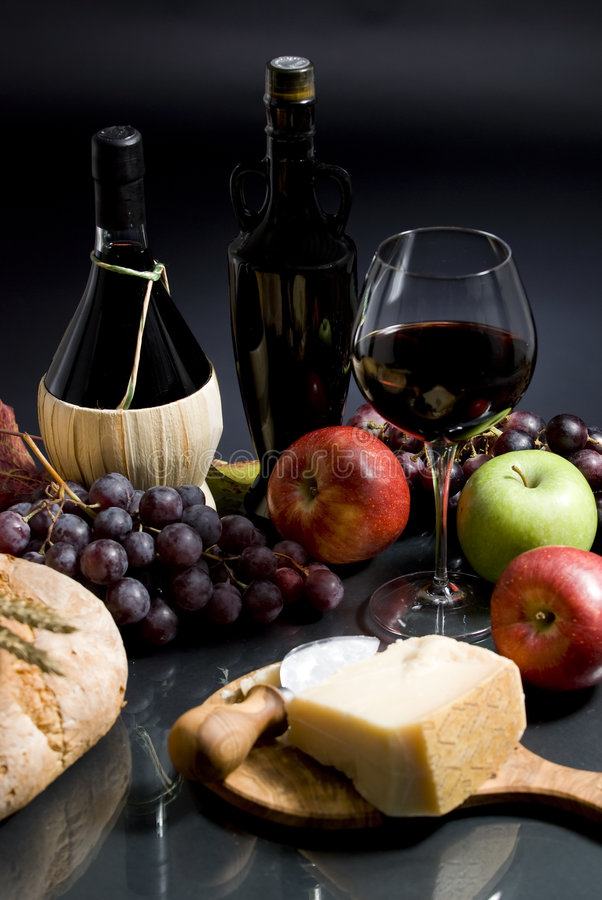 Download Wine and Grapes stock photo. Image of healthy, bottle - 3511662