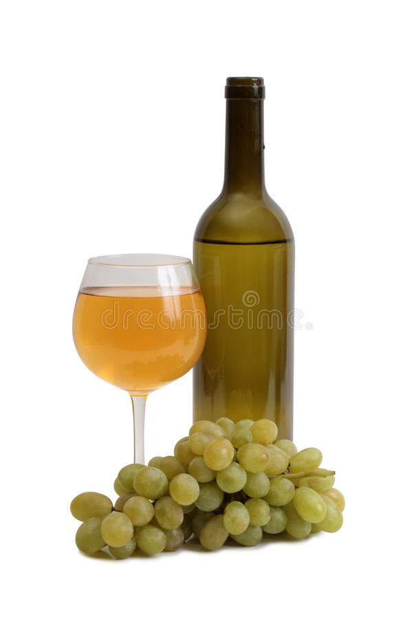Wine and grapes five royalty free stock photo