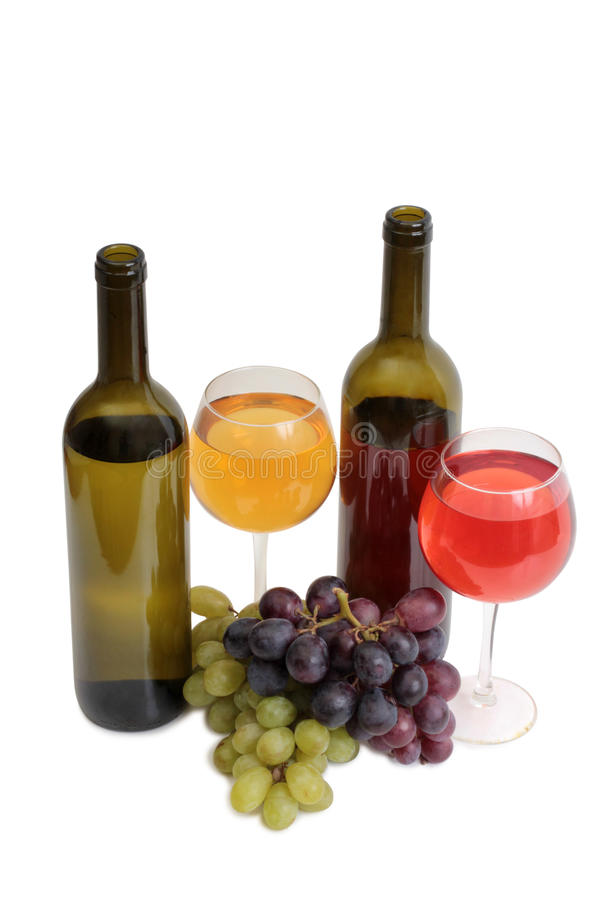 Wine and grapes nine royalty free stock photography