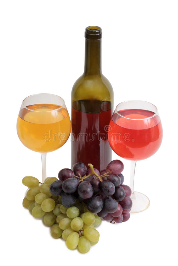 Wine and grapes ten royalty free stock images