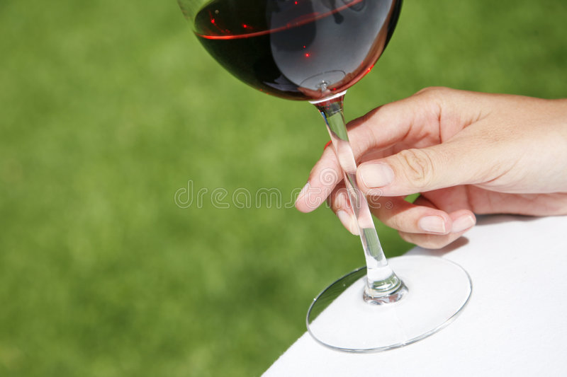 Wine and Hand royalty free stock images