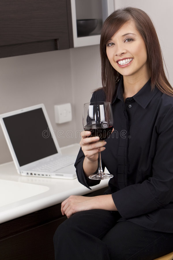 Download Wine At Home stock photo. Image of chinese, drink, happy - 8016846