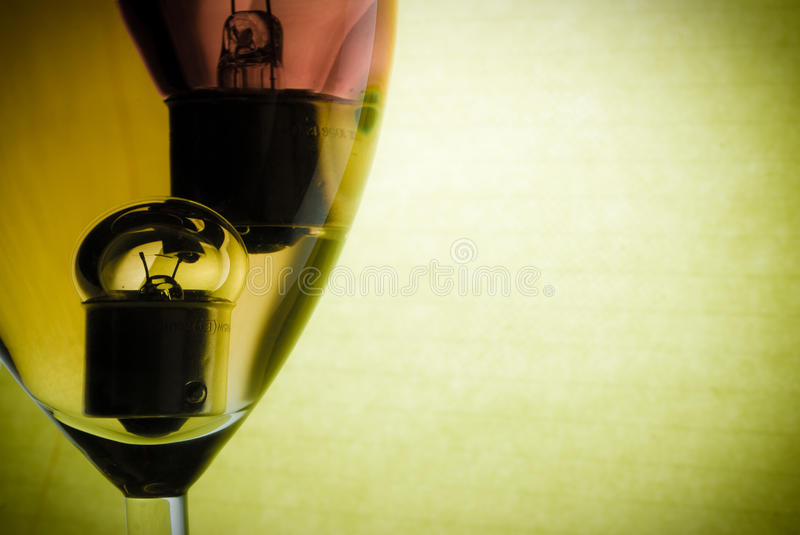 Wine and incandescent royalty free stock image