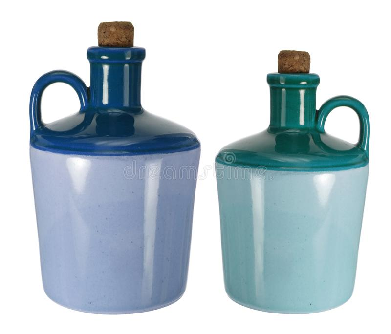 Wine Jugs. On White Background royalty free stock images