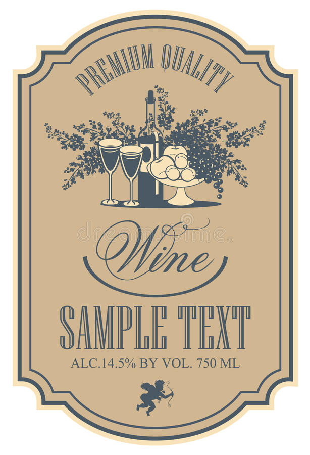 Wine Label Stock Vector Illustration Of Apple Frame
