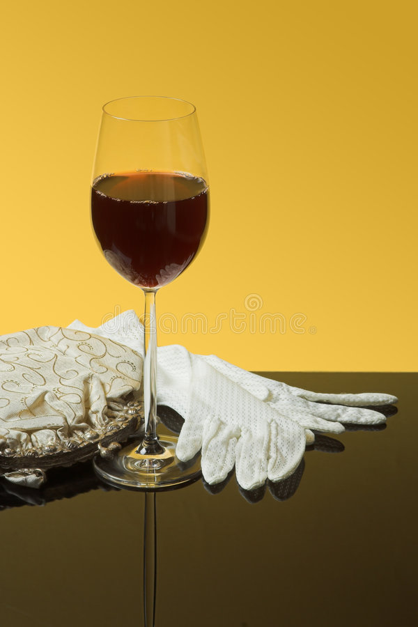 Wine And Lace Stock Photography