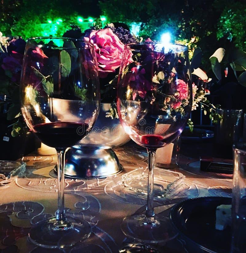 Wine life night light love stock photography