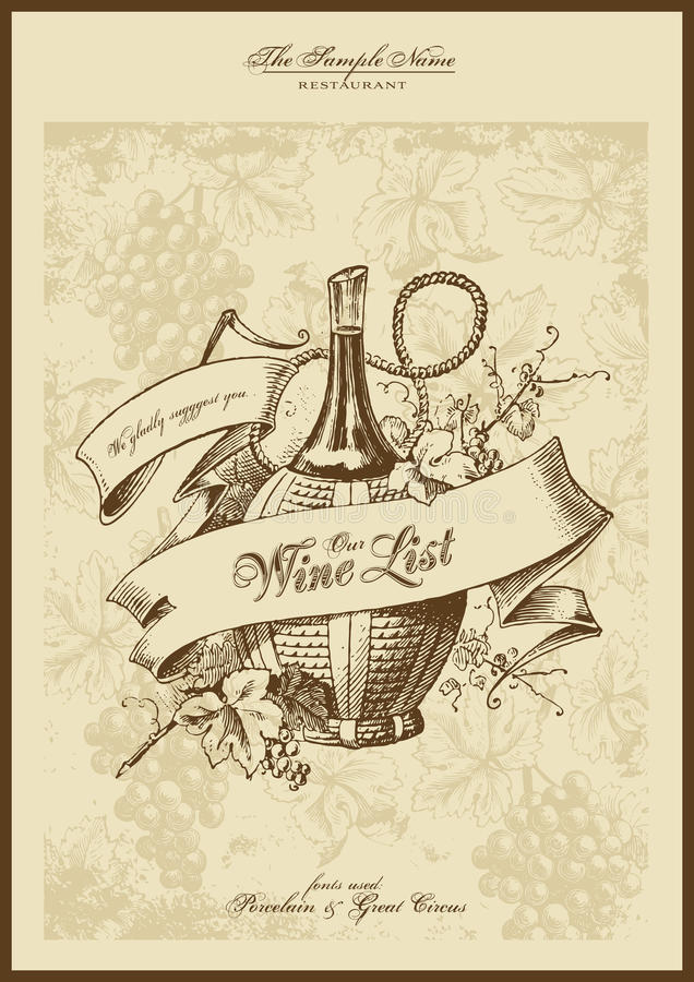 Free Wine List Royalty Free Stock Images - 11513219