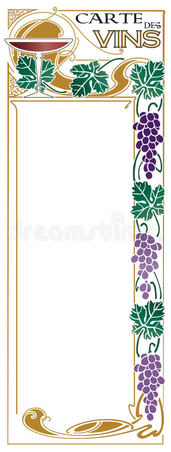 Wine List stock illustration