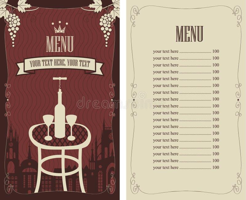 Wine list royalty free illustration