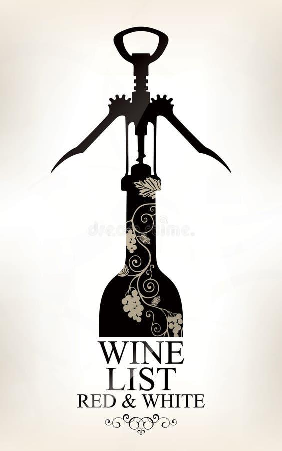 Wine list design. Vector available