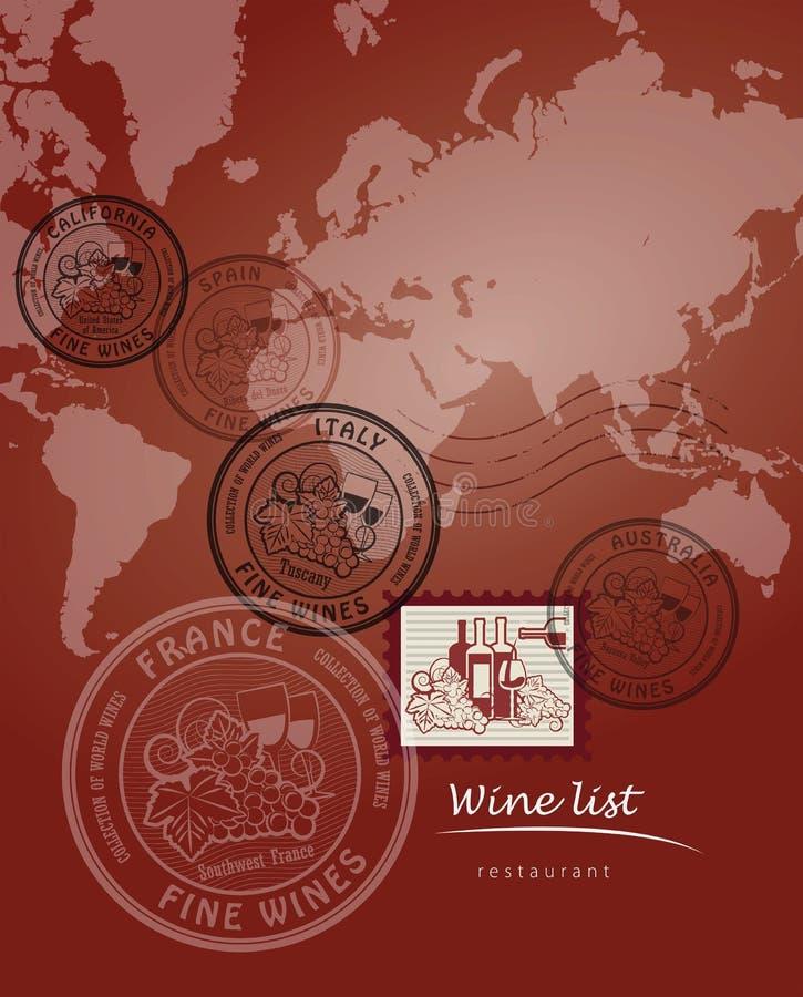 Wine list design vector illustration