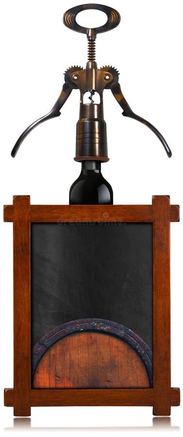 Wine List Empty Blackboard vector illustration
