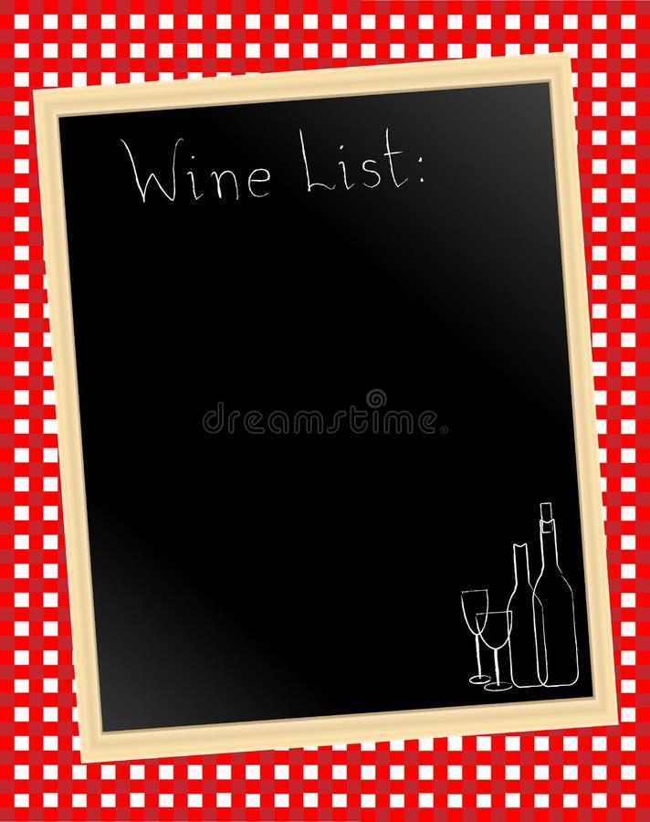 Download Wine list on gingham stock vector. Illustration of blackboard - 14378714