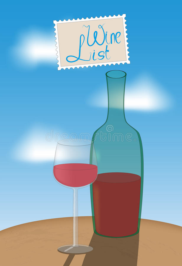 Wine list - an illustration in the style of impressionism royalty free stock photography