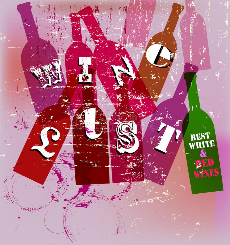 Wine List vector illustration