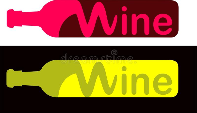 Wine Logo. Corks red and white royalty free illustration