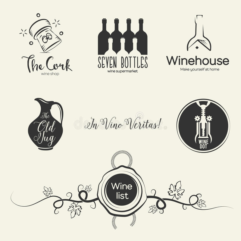 Wine logos and design elements stock vector illustration of download wine logos and design elements stock vector illustration of ilustration material 53905740 voltagebd Image collections