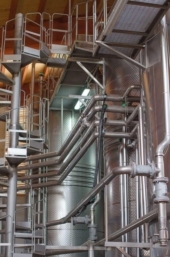 Wine manufacturing. stock photos