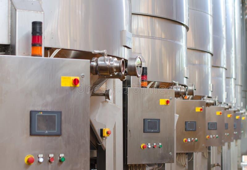 Wine manufacturing. stock image