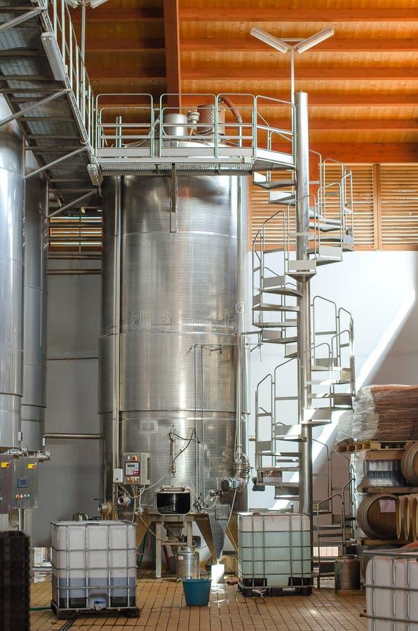 Wine manufacturing. stock photo