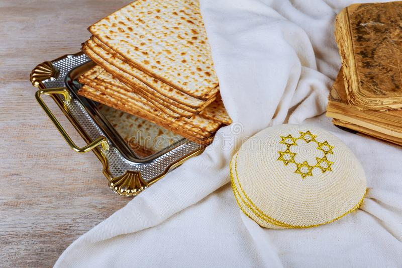 wine and matzoh jewish passover bread Passover matzo royalty free stock images