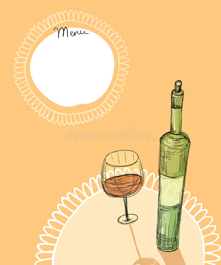 Download Wine menu stock illustration. Illustration of watercolors - 29045193