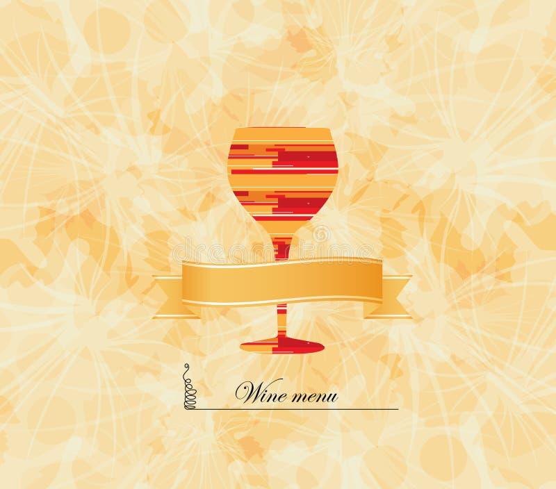 Wine Menu Card Design Background Stock Vector