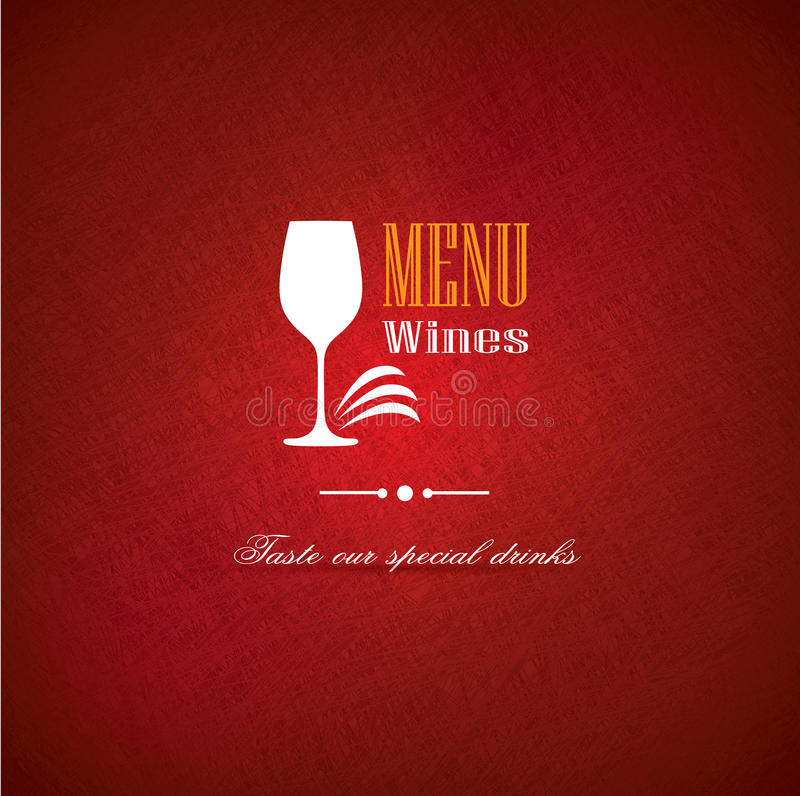 Download Wine Menu Cover Design For Restaurants Stock Images - Image: 36689014