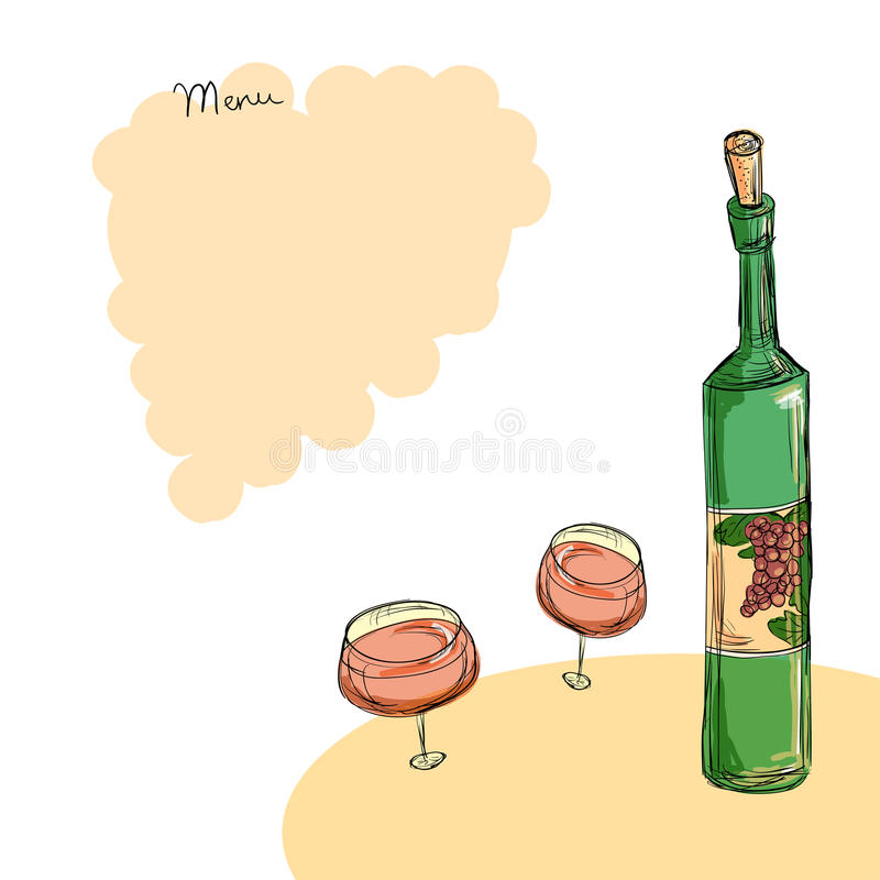 Wine Menu Template Stock Illustration Illustration Of Romantic
