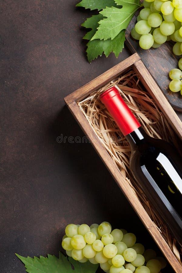 Wine och druvor royaltyfri fotografi