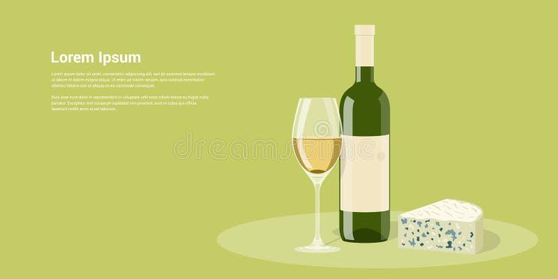 Wine och ost vektor illustrationer