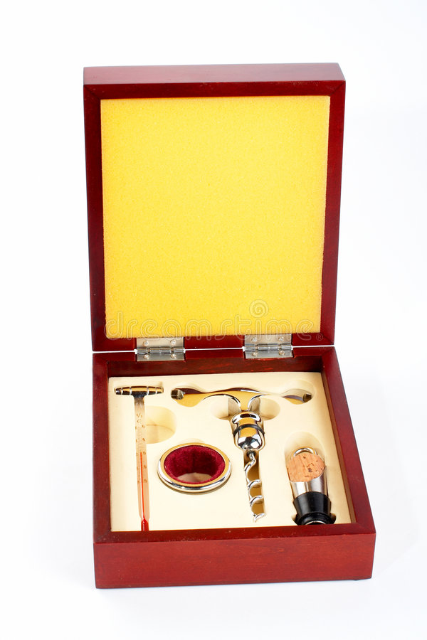 Wine opening tools kit stock photo