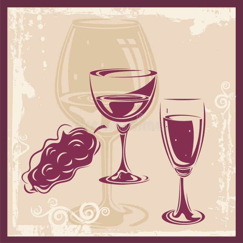 Wine Ornamental Background vector illustration
