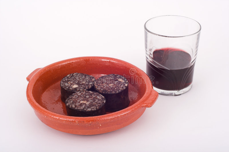 Download Wine And Pork Blood Pudding Stock Photo - Image: 501134