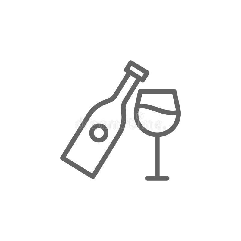 Wine, Portugal icon. Element of Portugal icon. Thin line icon for website design and development, app development. Premium icon on white background vector illustration