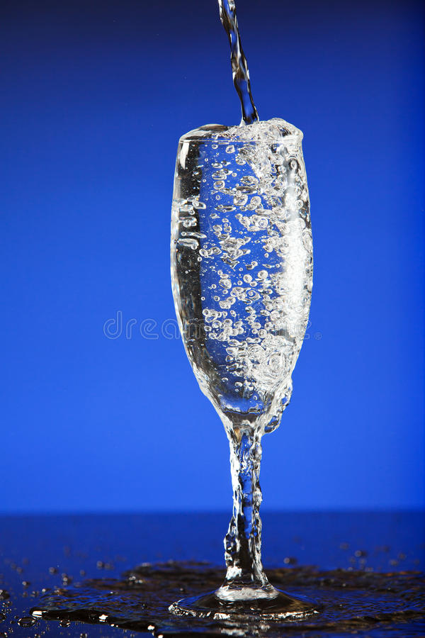 Download Wine pouring in glass stock image. Image of wine, bubbles - 25544121