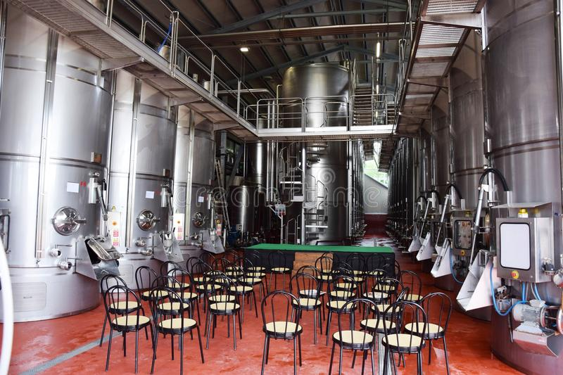 Wine producing structure stock image