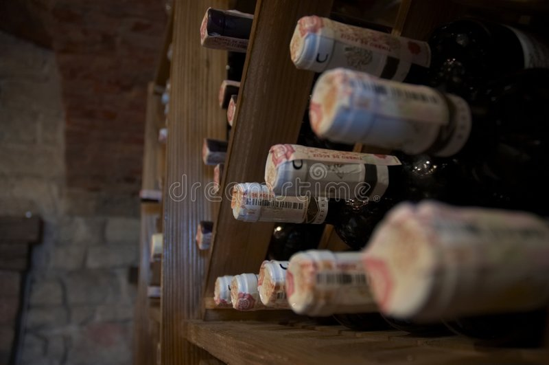 Wine rack royalty free stock photo
