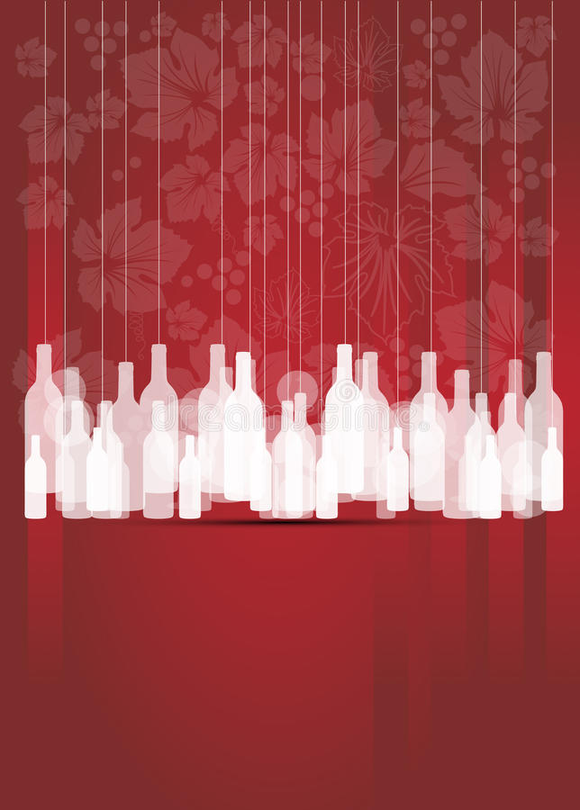 Free Wine Red Abstract Background With Bottles Royalty Free Stock Photos - 26161448