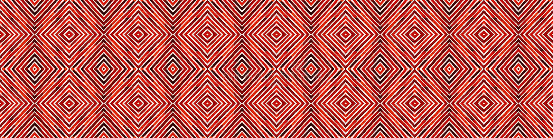 Wine red Seamless Border Scroll. Geometric Waterco vector illustration