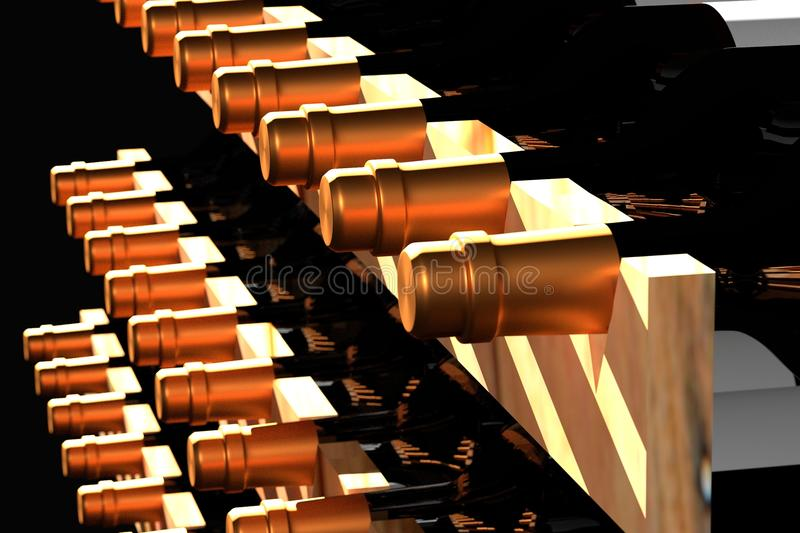 Wine render. Wine are graphics made of real learning royalty free illustration