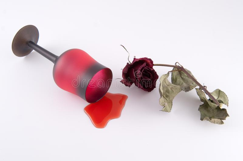 Download Wine with rose stock image. Image of teariness, melancholia - 8302863